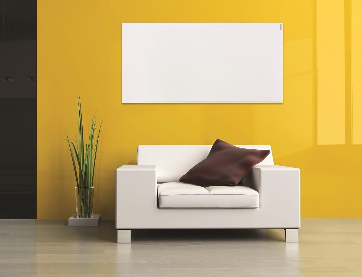 Infrared Heating Panels Herschel Select White Framed Panel