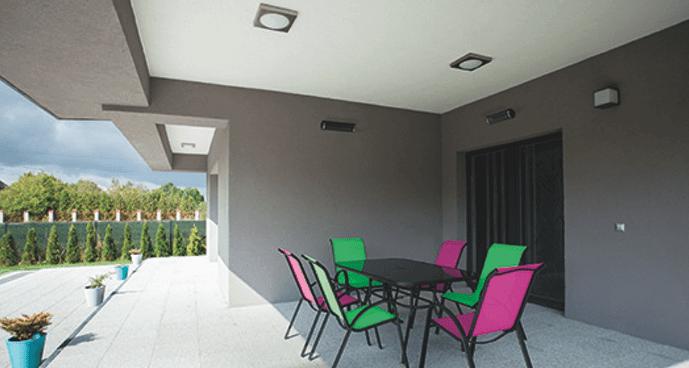 Far-infrared outdoor patio heating