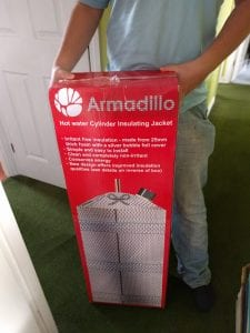 the armadillo hot water cylinder insulator