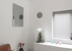 Perfect for the bathroom: Our mirror infrared heaters