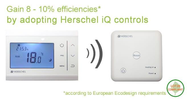 Gain extra energy efficiencies with Herschel iQ heating controls