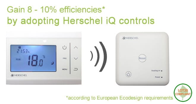 Gain extra energy efficiencies with Herschel iQ heating controls